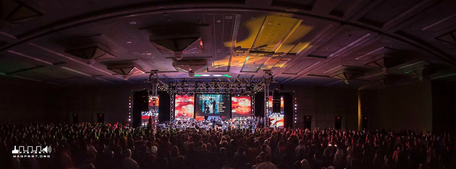 Photo of WMGSOperforming at MAGFest in January 2018 in front of 2,000 people